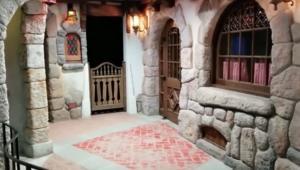 Larzland's basement recreation of Disneyland's Fantasyland