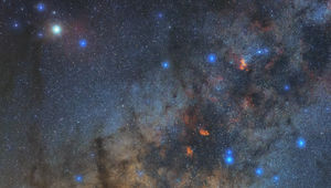 Part of the constellation Scorpius hangs in the sky above one of the four Auxiliary Telescopes making up the Very Large Telescope Interferometer. Credit: Babak Tafreshi