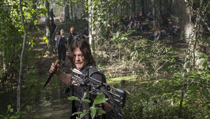 The Walking Dead episode 811 - Daryl hunting in a swamp