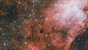 Detail on the Eagle Nebula, a star-forming region 7,000 light years from Earth. Credit: ESO