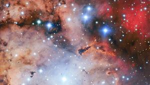 NGC 2467, aka the Skull and Crossbones Nebula. Credit: ESO