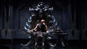 Riddick on throne