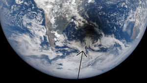 Eclipse seen from space