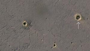 Opportunity landing site seen from orbit