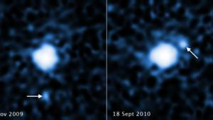 Hubble images of OR10's moon