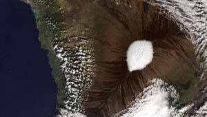 Mauna Loa with snow