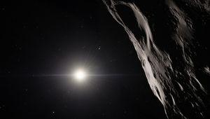 Artist illustration of an asteroid