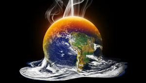 illustration of Earth melting
