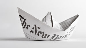 New York Times paper hat
