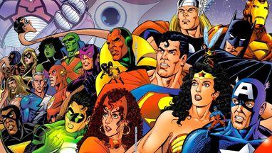 JLA/Avengers #1 (Written by Kurt Busiek, Art by George Perez)