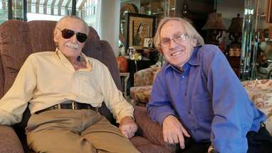 Stan Lee and Roy Thomas together at Lee's Beverly Hills home on Nov. 10