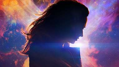 Jean Grey in silhouette in the movie poster for Dark Phoenix