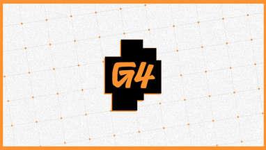 G4 logo white