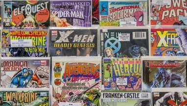 Comics rack