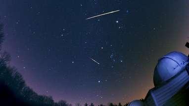 Three Geminid meteors from the 2012 shower. Credit: John Chumack