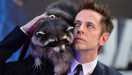 James Gunn and Oreo the Raccoon