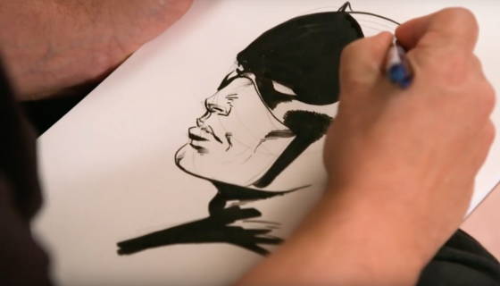 Joe Palmiotti drawing Daredevil