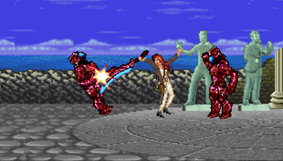 Aquaman Mera 16-bit scene