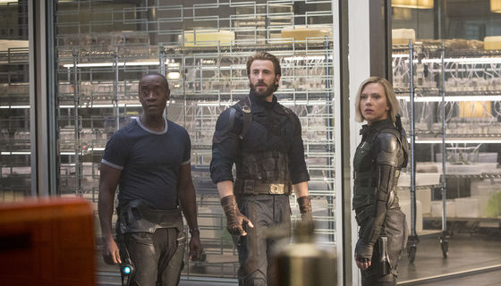 Avengers: Infinity War Captain America, War Machine, Black Widow