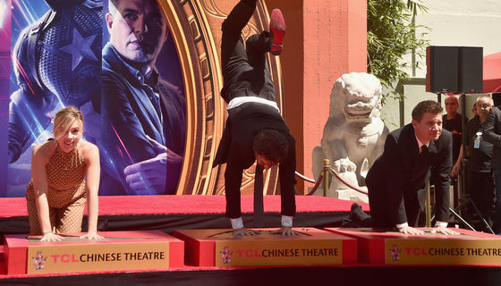 Avengers cast at the TCL Chinese Theatre