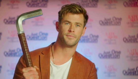 Chris Hemsworth on The Late Show with Stephen Colbert