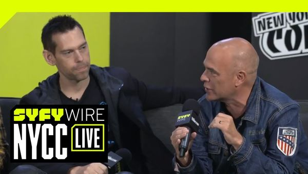 Steve Aoki And Jim Krueger On Neon Future And Techno Optimism | NYCC 2018 | SYFY WIRE