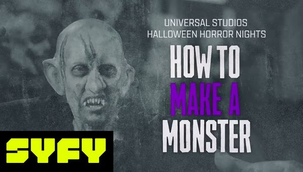 Monster Makeup Tutorial by Universal Hollywood Horror Nights Artist   31 DAYS OF HALLOWEEN   SYFY