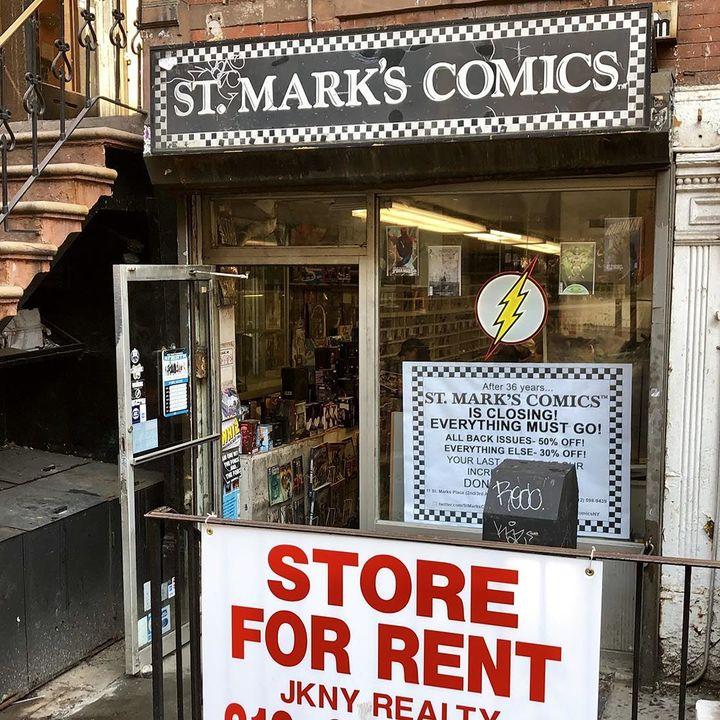 St Marks Comics closing