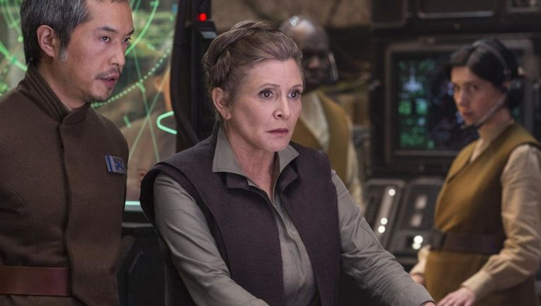 leia, carrie fisher, star wars: the last jedi