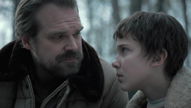 Stranger Things- Hopper and Eleven