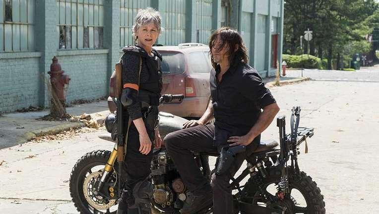 The Walking Dead Daryl and Carol Norman Reedus Melissa McBride