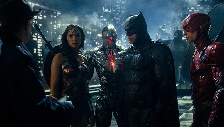Justice League Wonder Woman Batman Flash Cyborg