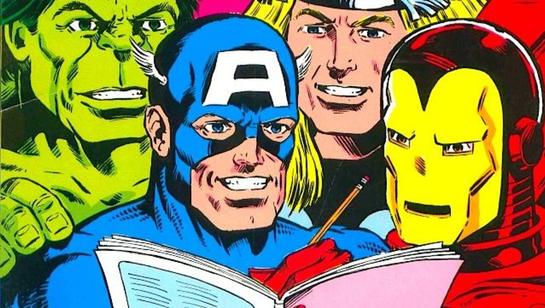 Marvel heroes reading