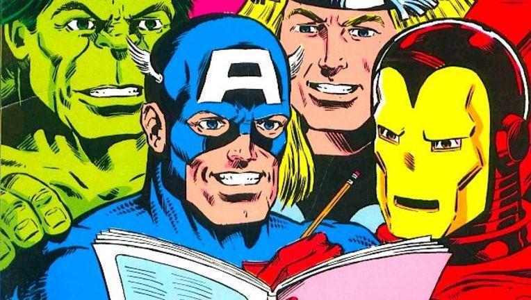 Marvel heroes reading