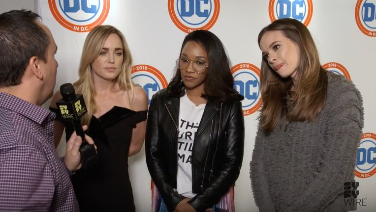 Caity Lotz, Candace Patton, Danielle Panabaker at DC in D.C.