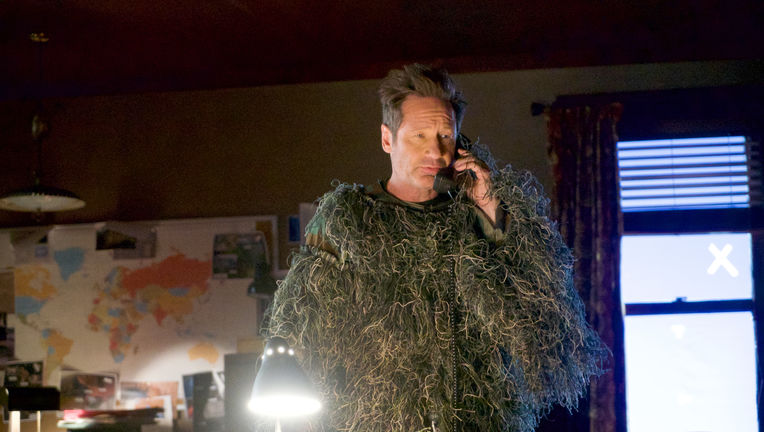 The X-Files episode 1104 - Mulder goes squatching