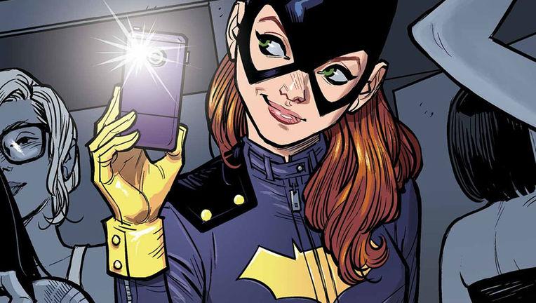 Batgirl comic- Batgirl with phone