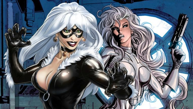 Black Cat and Silver Sable