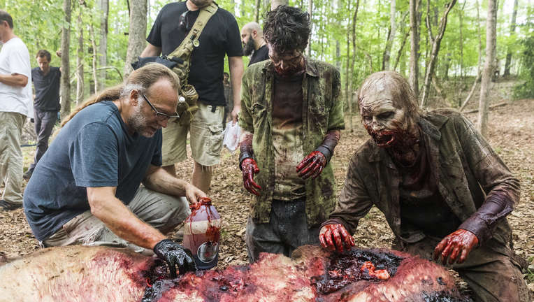 The Walking Dead episode 806 - Greg Nicotero BTS