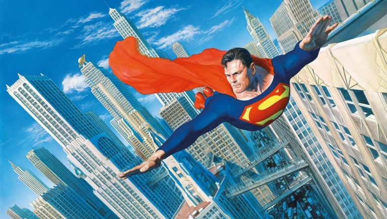 "Superman by Alex Ross, ""Look! Up in the Sky!"""