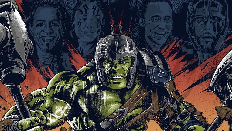 Thor Ragnarok poster by Anthony Petrie