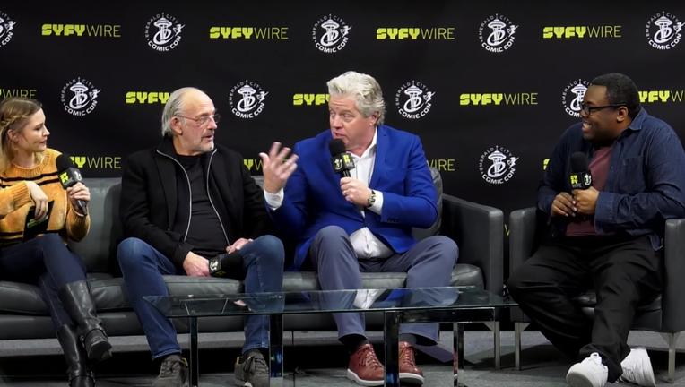 back to the future cast syfywire interview screengrab eccc2018