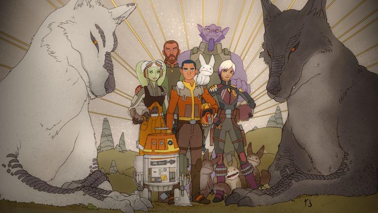 Star Wars Rebels- Sabine's painting of the crew