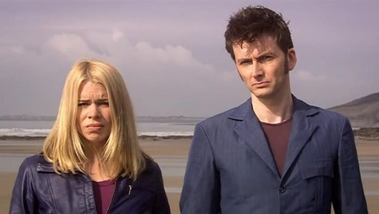 Doctor Who Rose and Meta-Crisis Doctor screengrab