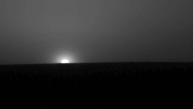 NASA image of a sunrise on Mars
