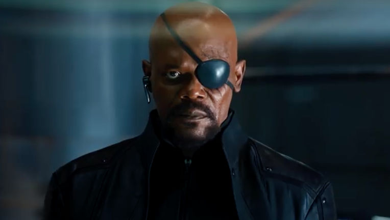 Samuel L. Jackson as Nick Fury in The Avengers