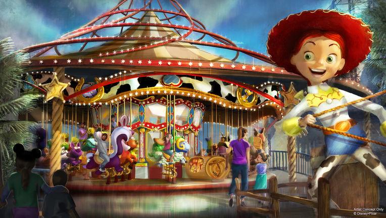 Pixar Pier- Jessie's Carousel concept art (Hero)