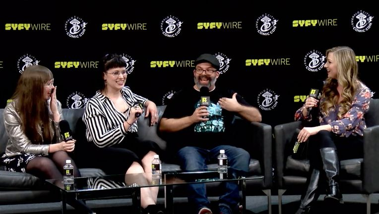 Rick and Morty comic book panel at Emerald City Comic Con