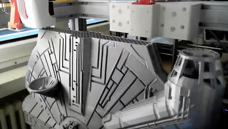 3D-printed Star Wars Millennium Falcon
