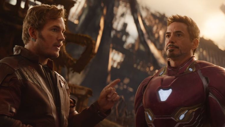 Avengers: Infinity War, Star-Lord and Iron Man